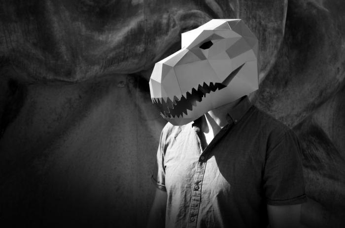 dinosaurier tiermasken basteln halloween maske von steve wintercroft