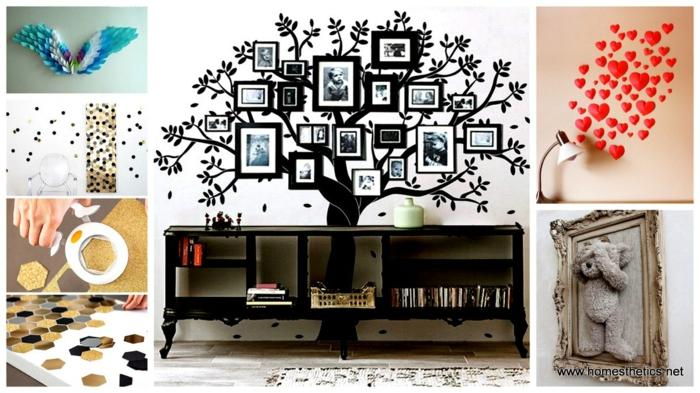 15 originelle diy wohnideen f r ihre wanddekoration. Black Bedroom Furniture Sets. Home Design Ideas