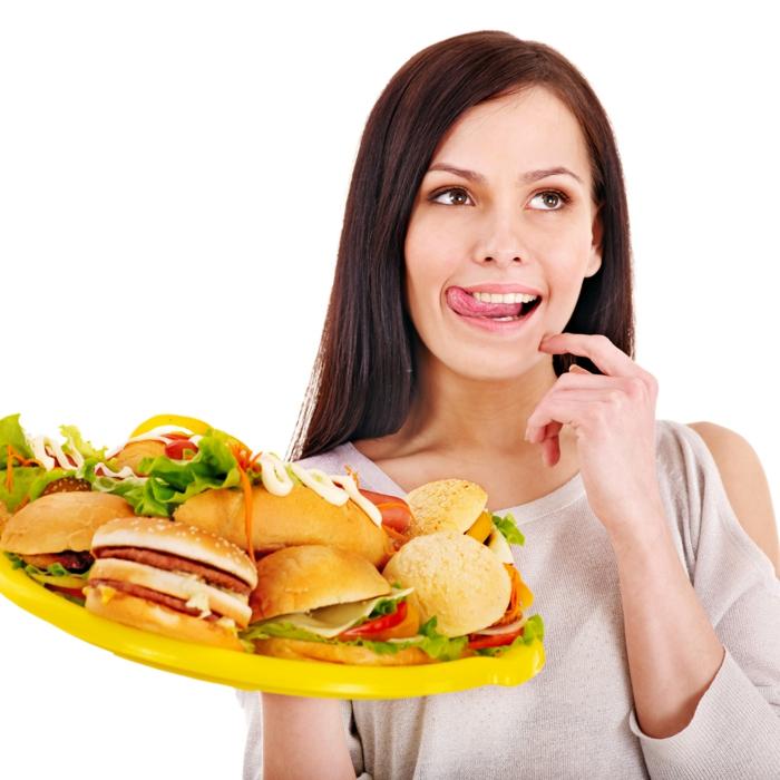 effektiv abnehmen tipps frau sandwiches