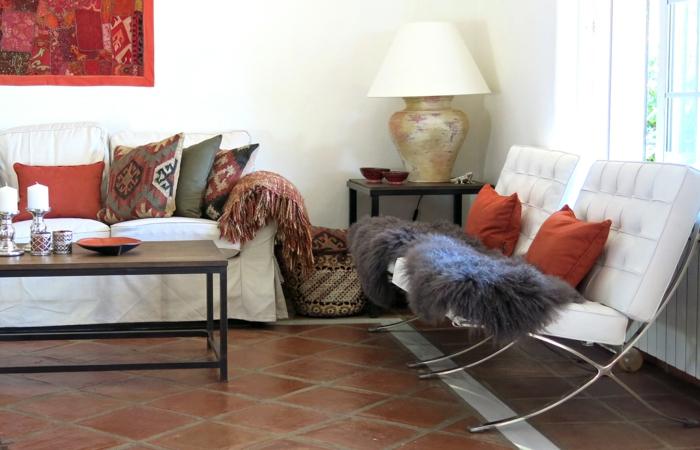 einrichtungsideen wohnzimmer globaler chic eklektisches design
