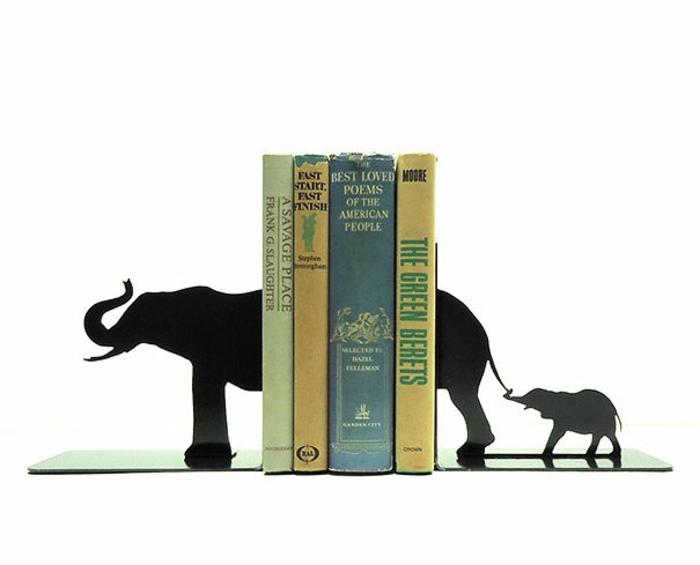 elefanten figuren bücherregal kreativ gestalten deko elefant