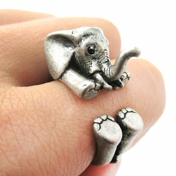 elefanten figuren originelle ringe baby elefant