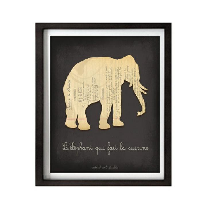 elefanten figuren wandeko kreativ gemälde elefanten