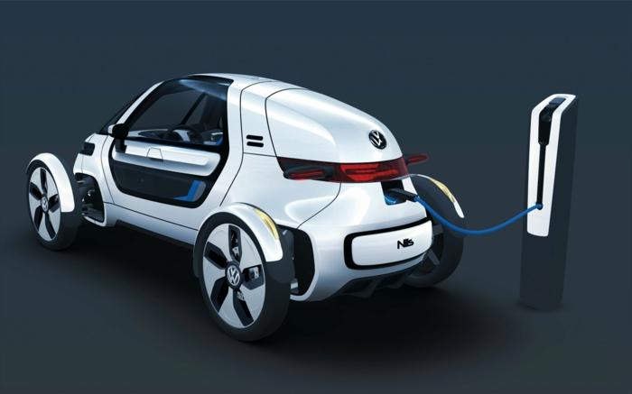 elektroauto strom volkswagen futuristisches design