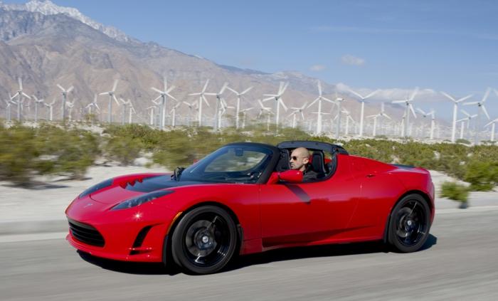 elektroauto tesla model roadster nachhaltig