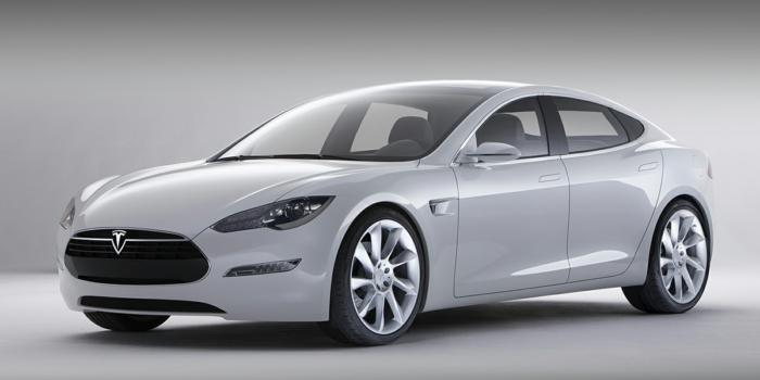 elektroauto tesla model s profil