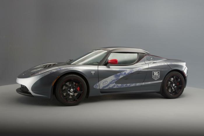 elektroauto tesla model s roadster speziell tag heuer
