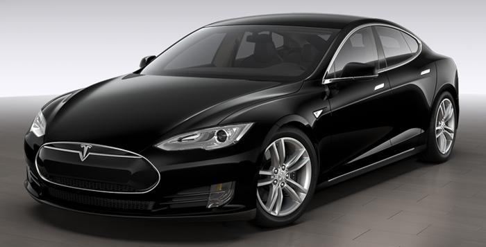 elektroauto tesla model s schwarz elegant sedan
