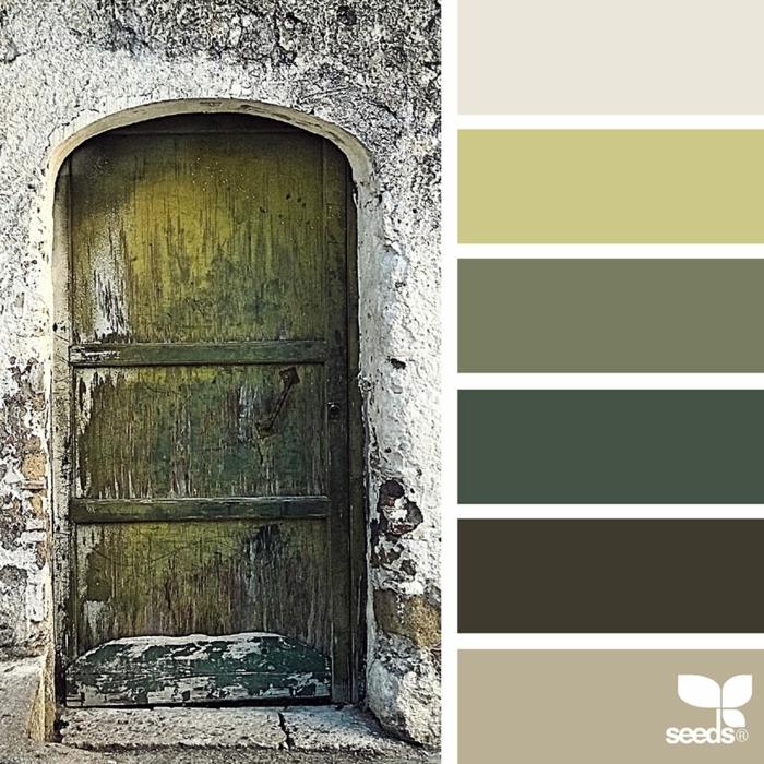 farbpalette alte tür farben @mikefanfulli