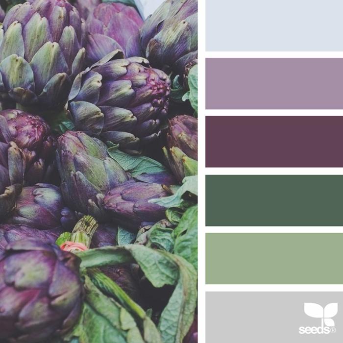 farbpalette artischocken farben ´