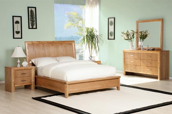 Schlafzimmer Pflanzen Feng Shui #16: Feng Shui Schlafzimmer Blaße Farbtöne Helles Holz