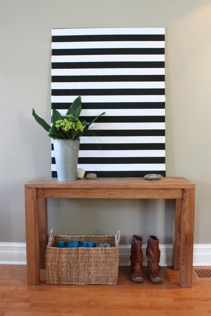 einrichtungsideen flur sch ne ideen f r eine diele mit tisch. Black Bedroom Furniture Sets. Home Design Ideas