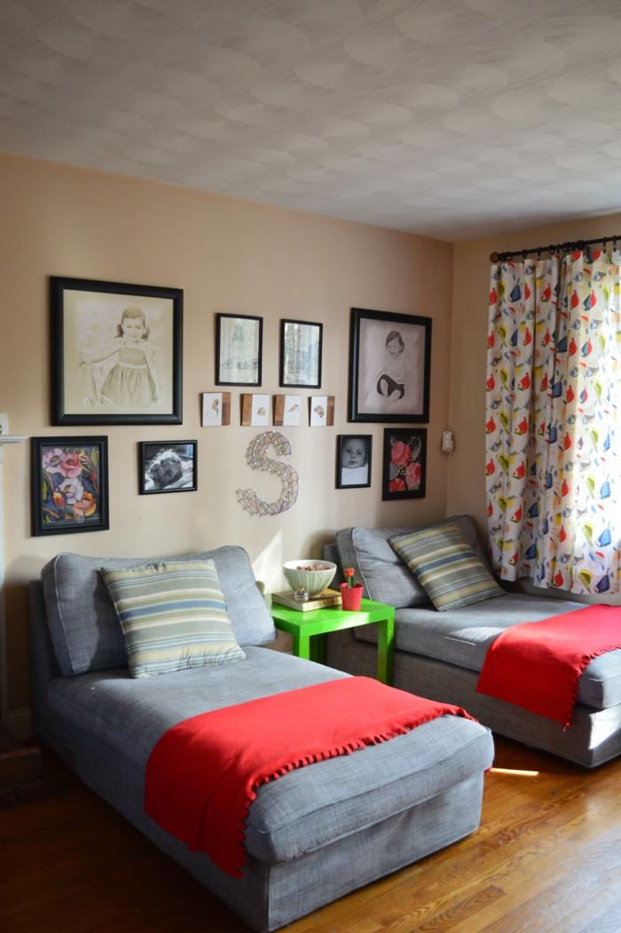 gardinen nähen doppelzimmer eirichten frisches muster