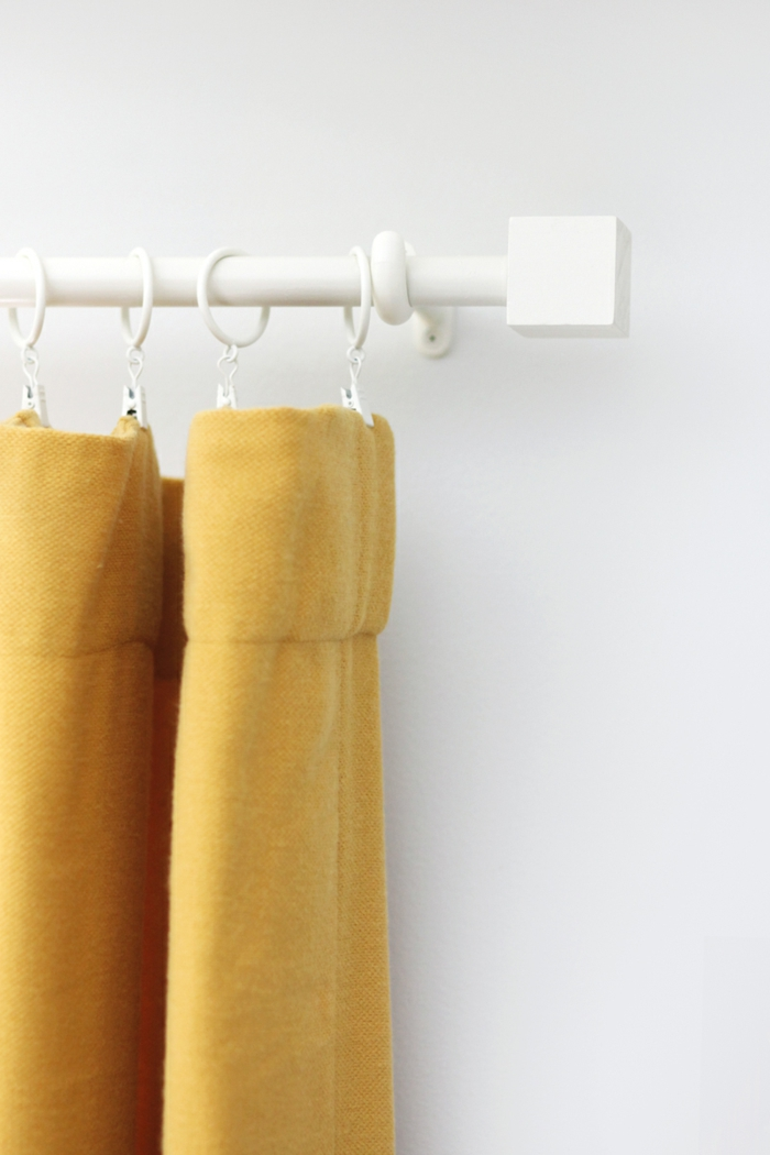 gardinen nähen gelb frisch schöne deko