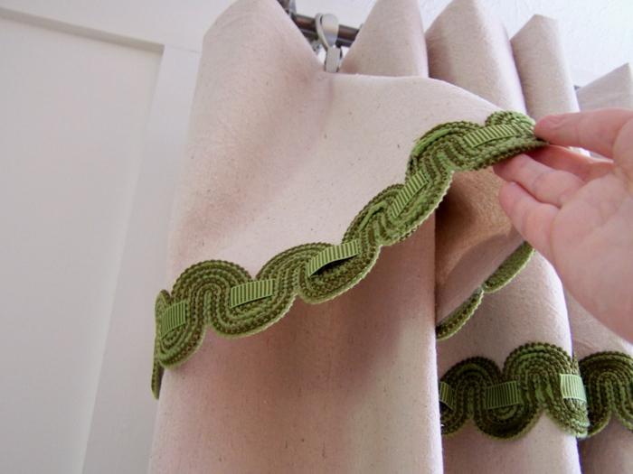 gardinen nähen schöne diy ideen grüne kanten