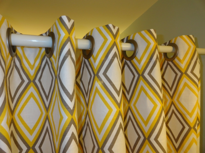 gardinen selber nähen frische farbnuancen wandfarbe berücksichtigen