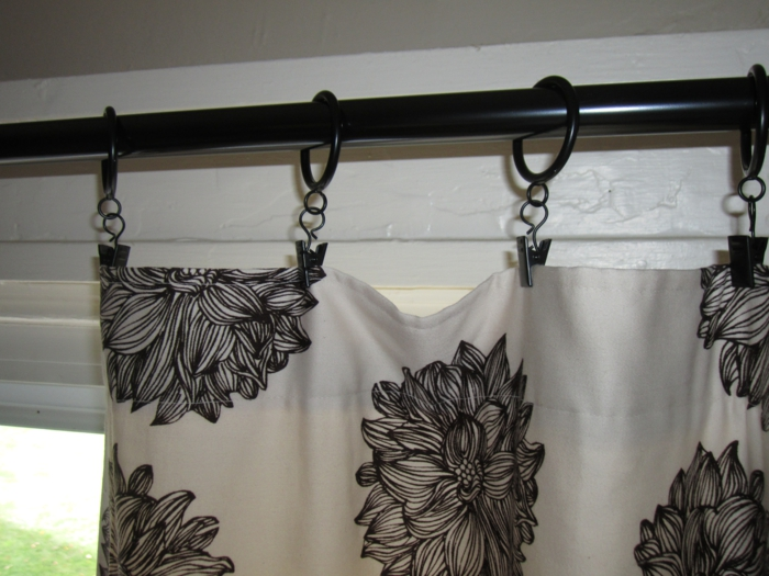 gardinen selber nähen stangen schönes muster