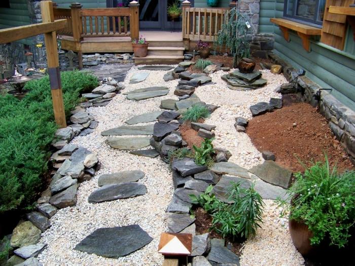 Gartensteine - Ideen, wie Sie dem Garten einen schönen Look durch ...