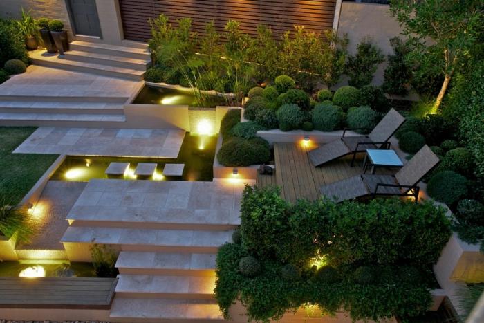 Gartentreppe beleuchten und sie zum hingucker machen for Gartengestaltung design