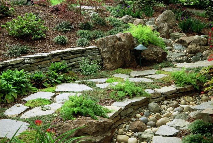 Garten mit steinen dekorieren  Gartensteine - Ideen, wie Sie dem Garten einen schönen Look durch ...