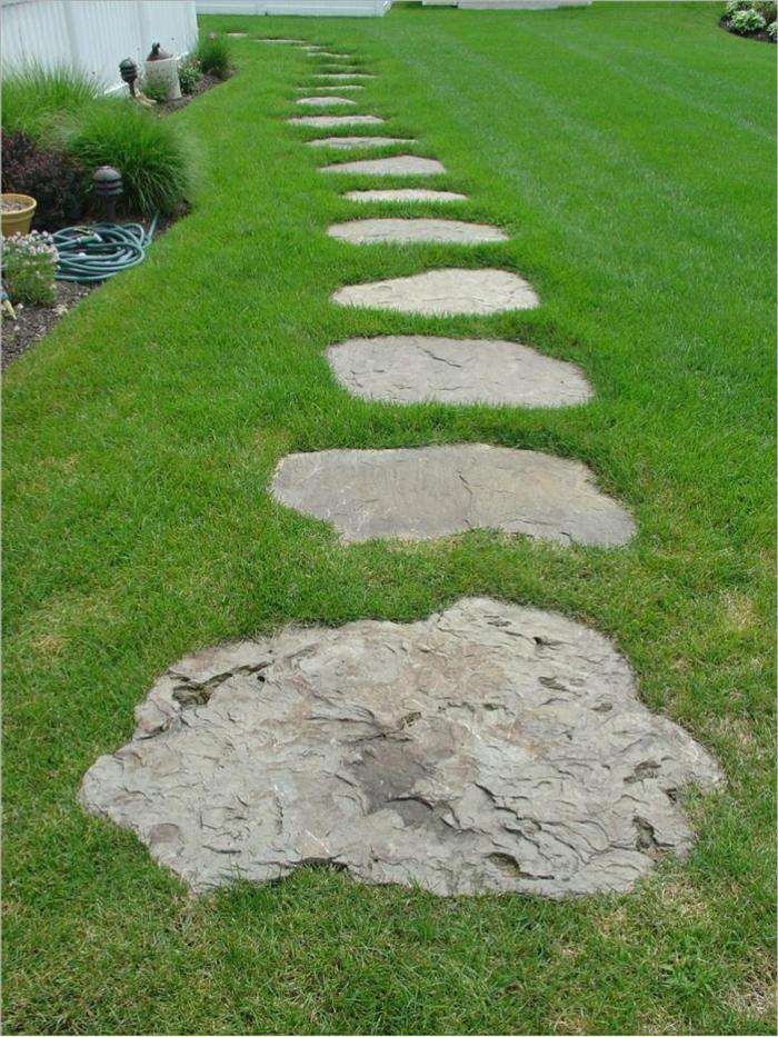 Gartensteine ideen wie sie dem garten einen sch nen look durch steine verleihen - Garten trittplatten ...