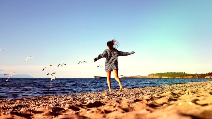 glückliches leben glück erleben frei sein