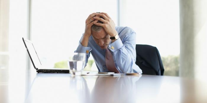 glückliches leben businessman gestresst depression