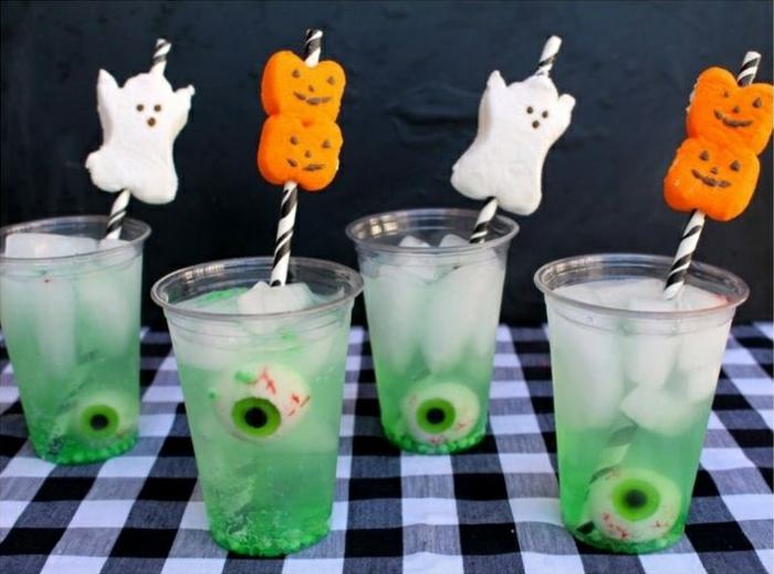 grusellige halloween getränke für kinder