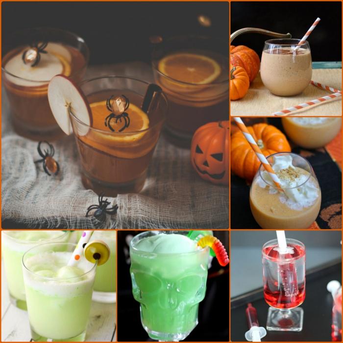 halloween getränke für kinder rezepte kürbis deko