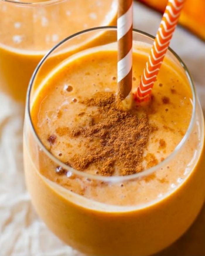 halloween getränke kürbis smoothie für kinder rezept