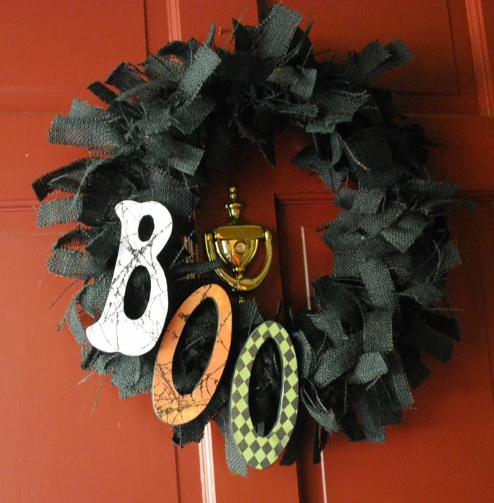 halloween ideen deko eingangstür kranz halloween bedetutung symbole