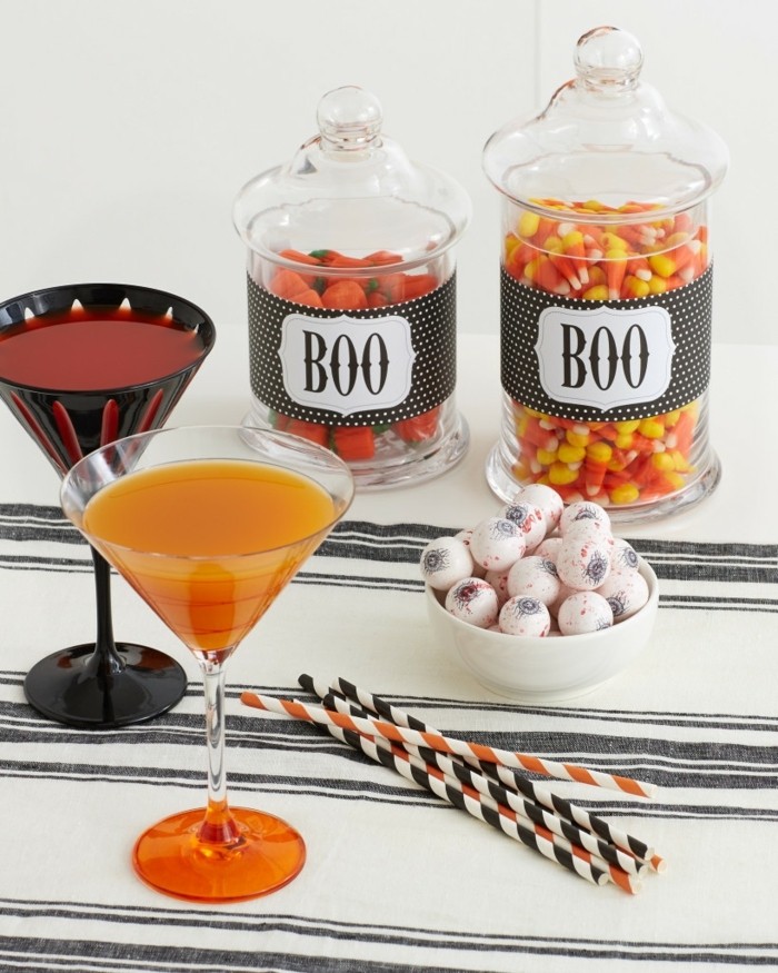 halloween ideen essen getränke tischdeko