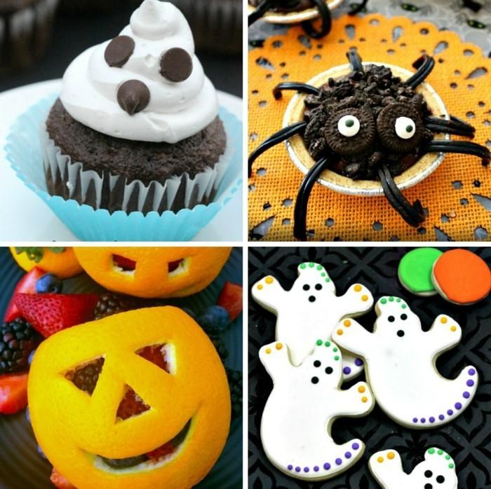 halloween ideen für ausgefallene tafel farbig und lustig