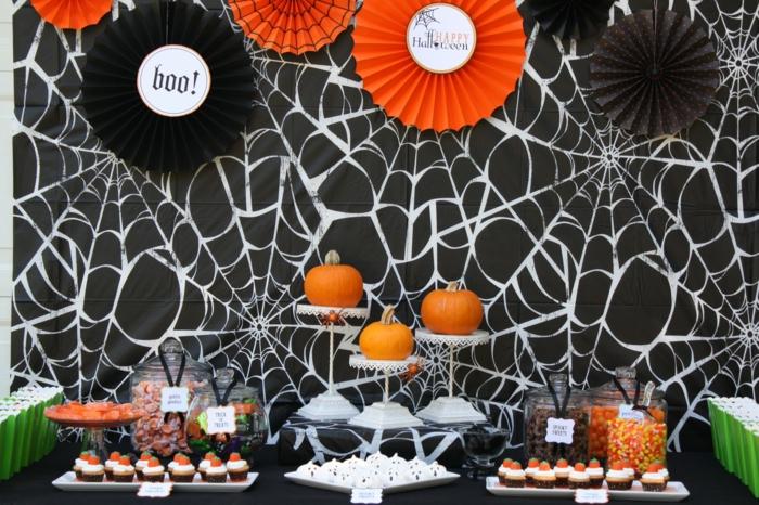 halloween ideen halloween party spinnen süßigkeiten