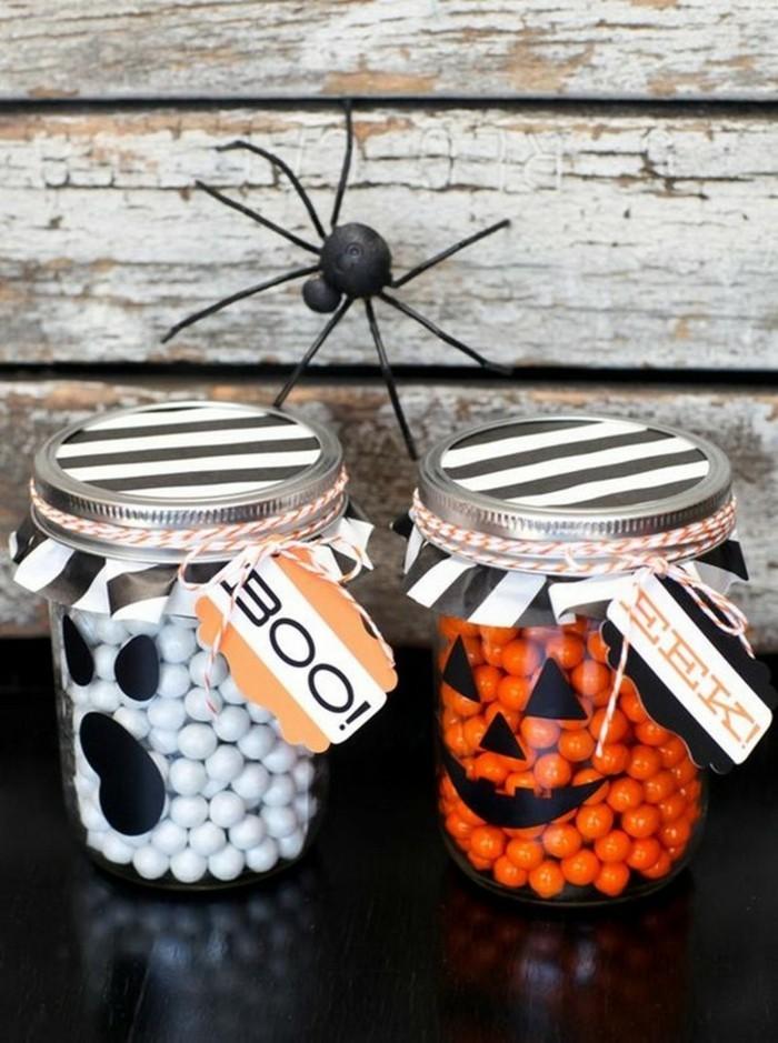 halloween ideen halloween süßigkeiten in einmachgläsern