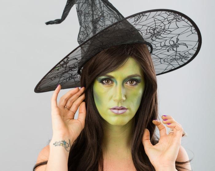 halloween ideen kostüme hexe grünes gesicht