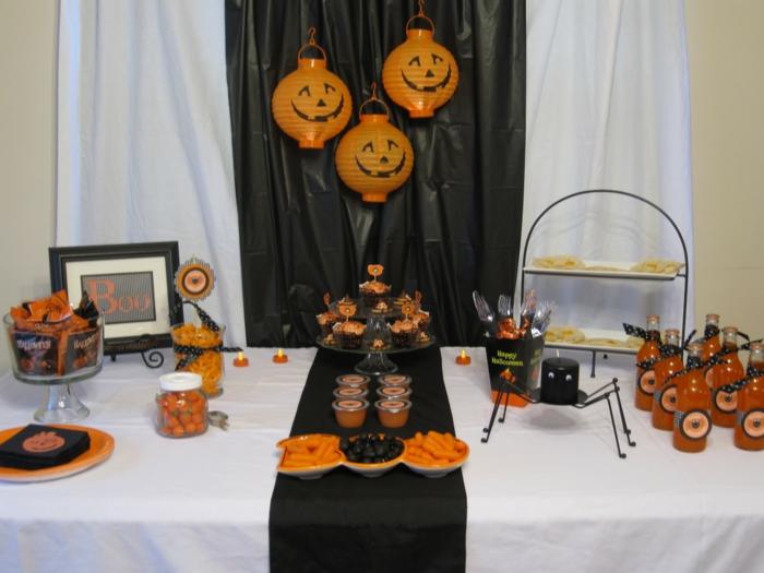 halloween ideen tischdeko kürbisse