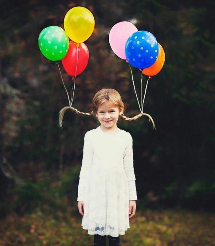halloween kinderfrisuren pippi langstrumpf mit luftballons