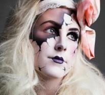 24 Halloween Make up Ideen – Das Gesicht für Halloween völlig verändern