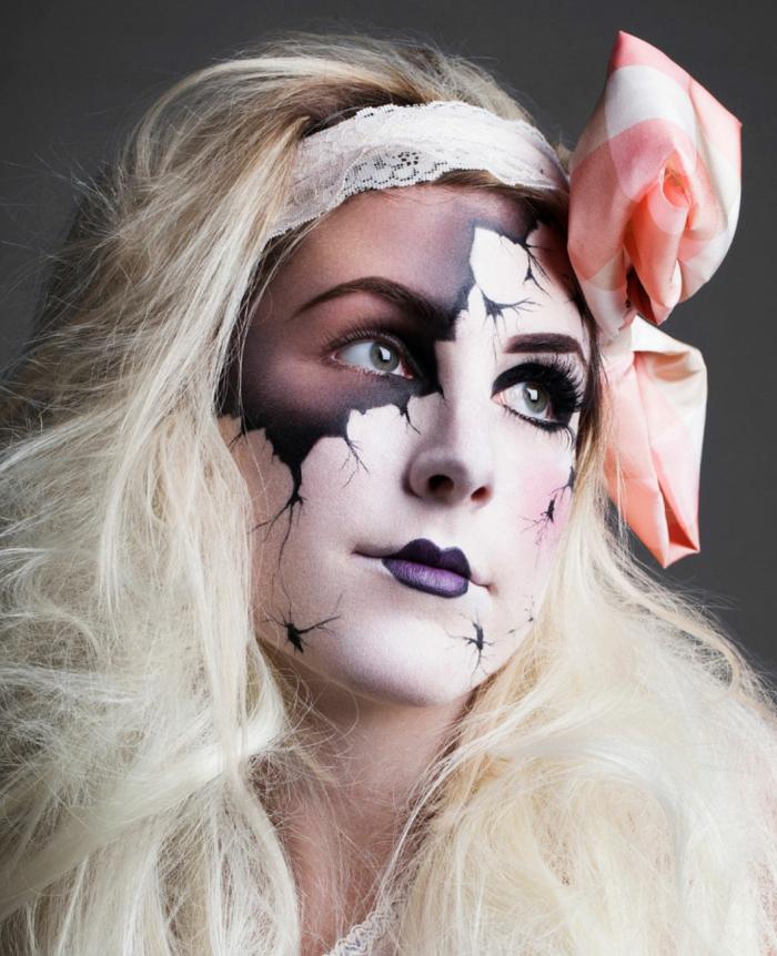 halloween make up ideen ausgefallene schminke frauen