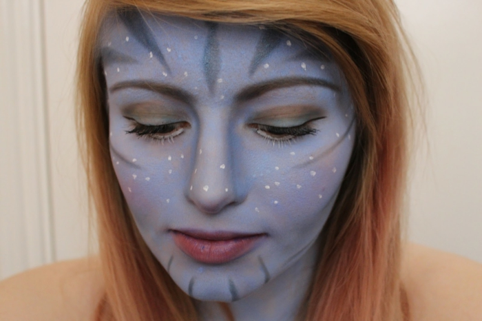 halloween make up ideen damen avatar look