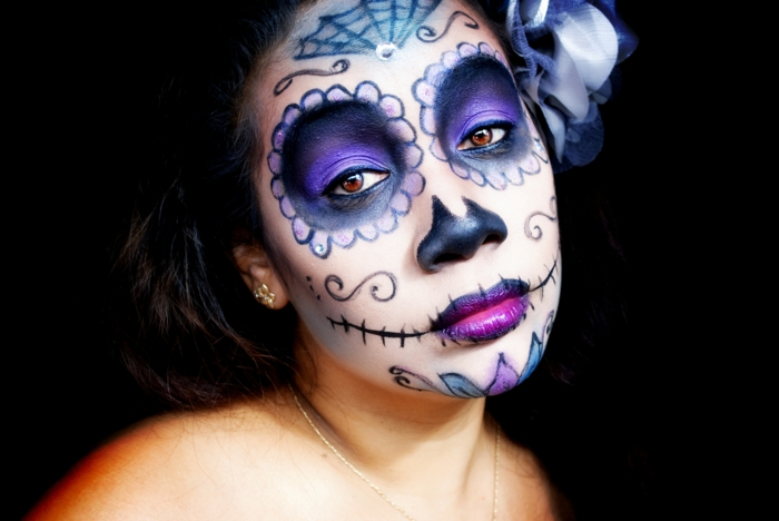 Easy Skeleton Face Painting Ideas