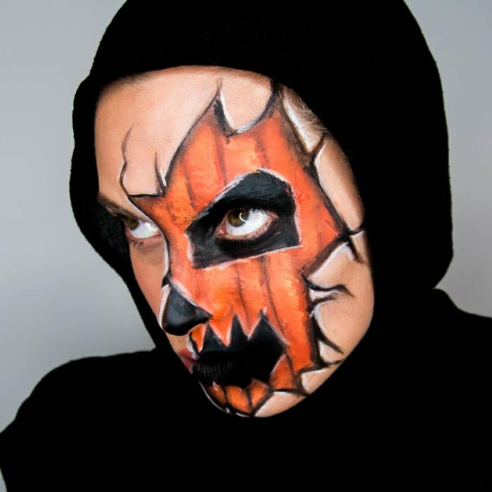 halloween masken Jack O' Lantern make up
