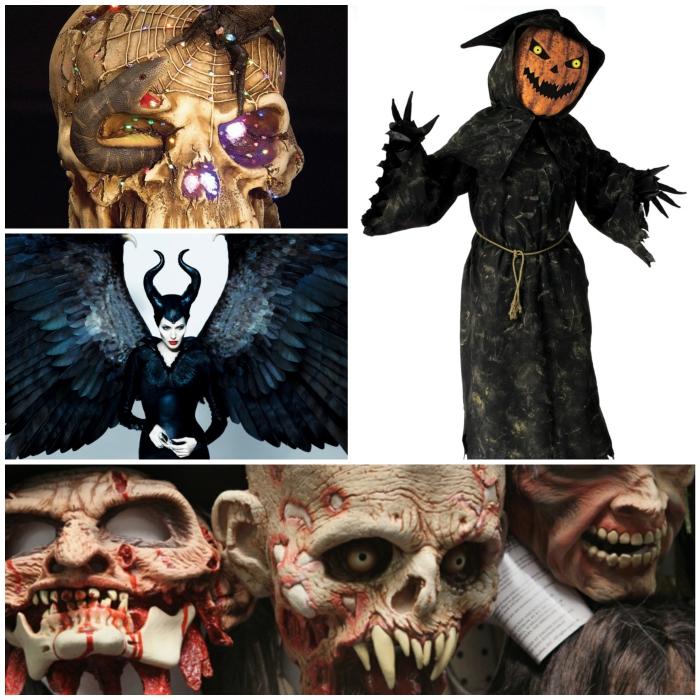 halloween masken catwoman katzenfrau collage