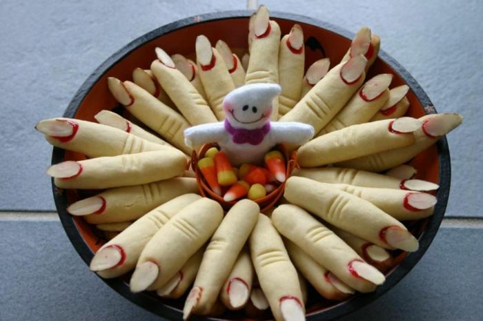 halloween party ideen essen süßigkeiten rezepte finger nägel