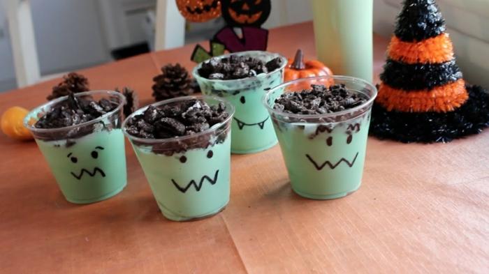 halloween party ideen getränke tasse bemalen