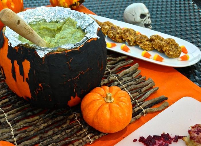 halloween rezepte avocado suppe brei gefüllter kürbis