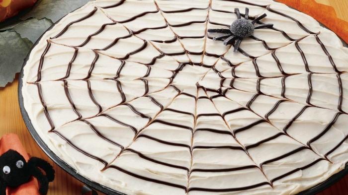 halloween rezepte brownie spinnwebe