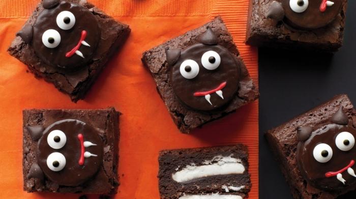 halloween rezepte brownie teufelchen