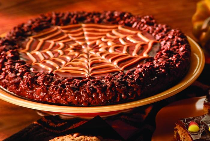 halloween rezepte spinnwebe schokoladenkuchen